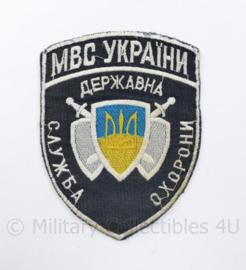 Oekraïens politie embleem MBC Ukraine Ykpaiha MBC - 12,5 x 9,5 cm - origineel