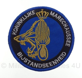 KMAR Koninklijke Marechaussee Bijstandseenheid embleem - met klittenband -  9 x 9 cm