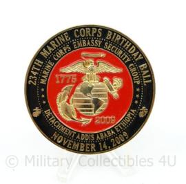 Zeldzame coin Tun Tavern Philadelphia YSNC 234th Marine Corps Birthday ball 2009  - diameter 5 cm - origineel
