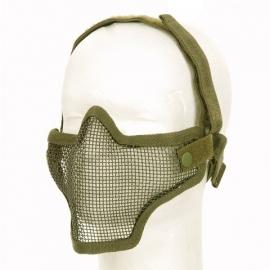 Airsoft half gezichtsmasker Metal Mesh - GROEN
