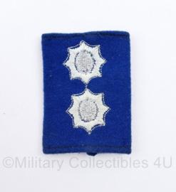 schuifepaulet Gemeentepolitie Inspecteur - 7 x 5 cm - origineel