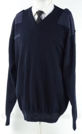 Brandweer kazerne tenue trui met V-hals - donker blauw - maat 9 - origineel