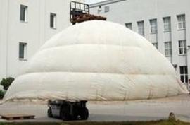 Witte parachute MET parachute tas - lijnen er nog aan! - Pisa Type PG 1A 24 - origineel