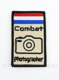 Combat Photographer embleem - met klittenband - 8,5 x 5 cm