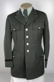 US Army Class A jacket - zilveren knopen - Officiers versie - 60'er jaren - donkergroen - meerdere maten - origineel