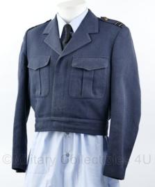 Klu Luchtmacht 1980 IKE model kort uniform jas Officier - rang Kapitein - lijkt op wo2 model - maat 48 - origineel