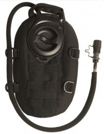 Hydration pack waterrugzak 1,5 liter Ovaal - MOLLE systeem - nieuw gemaakt - Zwart