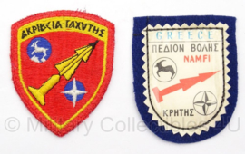 KL Emblemen set Griekenland Raketinstallaties Kreta Patriot Missie - Origineel
