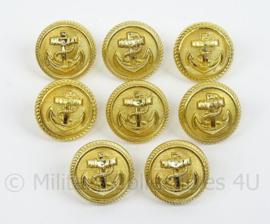 Knopen voor Marine uniformen - set van 8 stuks  21mm knopen
