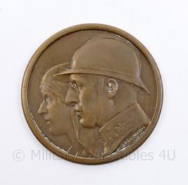 Belgische Penning UFAC 1929-1949  1914-1918   - diameter 4,5 cm - origineel