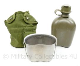 US Army Vietnamoorlog veldfles set - met beker en hoes  - origineel