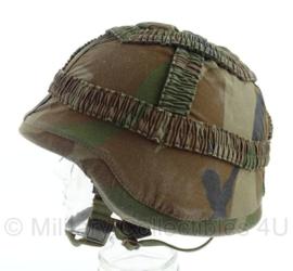 Korps Mariniers Forest camo helmovertrek - maat Medium - zeldzaam - origineel