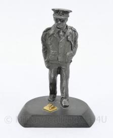 Politie beeldje handwerk tin - 8,5 x 4 x 6 cm - origineel