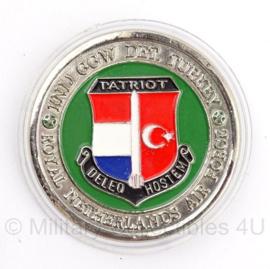 Nederlandse penning Patriot Missie Turkije - doorsnede 5 cm - origineel