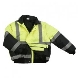 Reflecterende Werkjas en veiligheidsjack kort -  donkerblauw/geel