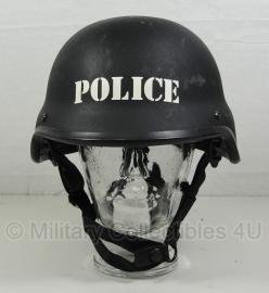 Politie en special forces MICH helm zwart - met opdruk POLICE - origineel