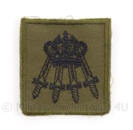 KL Landmacht borst embleem NLD Contingents Commando - met klittenband - afmeting 4,5 x 5 cm - origineel