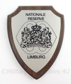 KL Landmacht wandbord NATRES Nationale Reserve Limburg - afmeting 19 x 15 x 1,5 cm - origineel