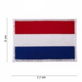 Uniform landsvlag Nederland stof - 5 x 7,7 cm.