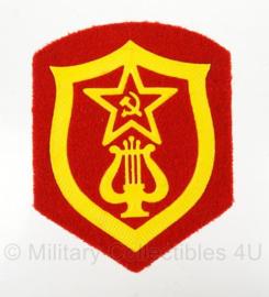 Russische USSR Military Orchestra Service arm embleem - 8,5 x 6,5 cm - origineel