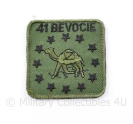 KL Nederlandse leger 41 BEVOCIE 41 Bevoorradingscompagnie borstembleem - met klittenband - 5 x 5 cm - origineel