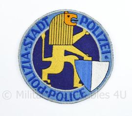 Zwitsers embleem Zurich Stadt Polizia Police Polizei embleem  - diameter 9 cm - origineel
