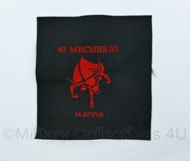 Nederlands Leger - proefmodel embleem 43ste gemechaniseerde brigade 14e afdeling veldartillerie - origineel