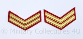 Korps Mariniers Barathea - rangen paar  Korporaal der mariniers - origineel