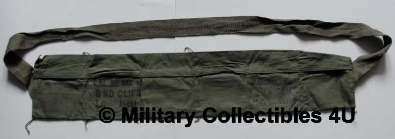US M1 Garand bandoleer - OD - origineel