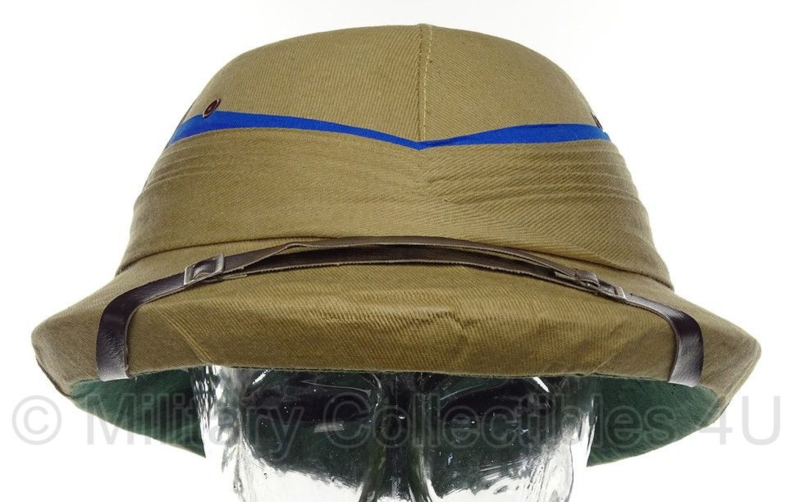 ANTIEKE tropen helm khaki T.A.E. Madras India maat 56