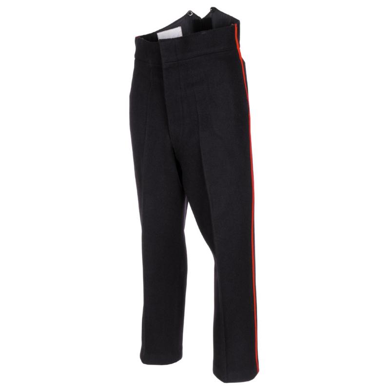 Zwarte britse Garde  uniform broek met brede rode bies  - Maat XS tm. Medium - origineel