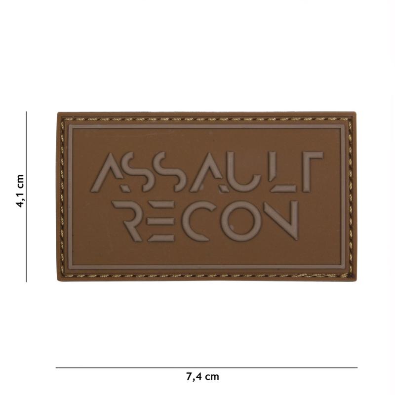 Embleem 3D PVC Assault Recon - COYOTE - 7,4 x 4,1 cm