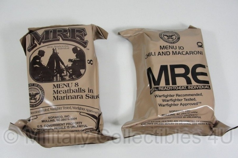 US Army MRE los rantsoen - Meal Ready to Eat - houdbaar tot 5-2021