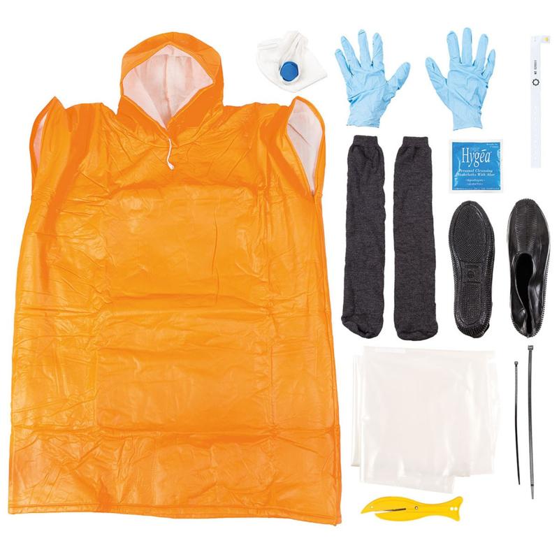 Dräger Piccola FFP3 SV NBC beschermende kleding en accessoires set 11-delig - met Corona mondkapje - ongebruikt - maat M = Adult - origineel