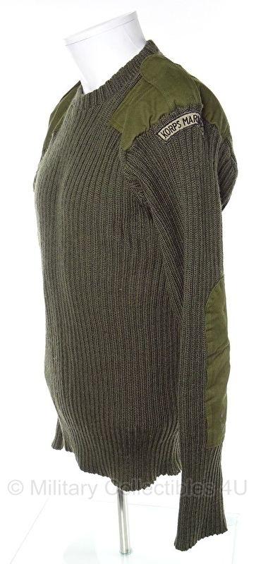 Korps Mariniers wollen trui met straatnaam ronde hals