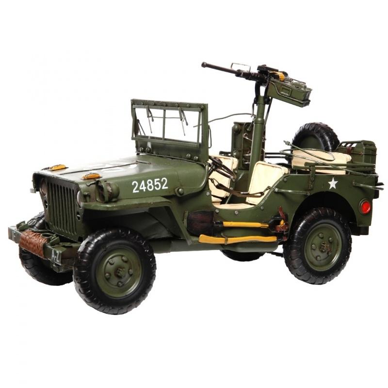 Willys MB handgemaakt metalen model - groot !