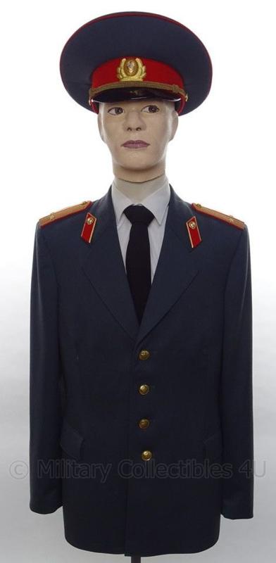 Politie Rusland uniform SET jasje en pet - met originele insignes - maat 48 - origineel