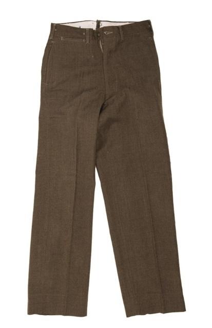 Field Trousers 18 oz. Olive Drab 33 Serge Wool - pattern 20 dec. 1945 - origineel