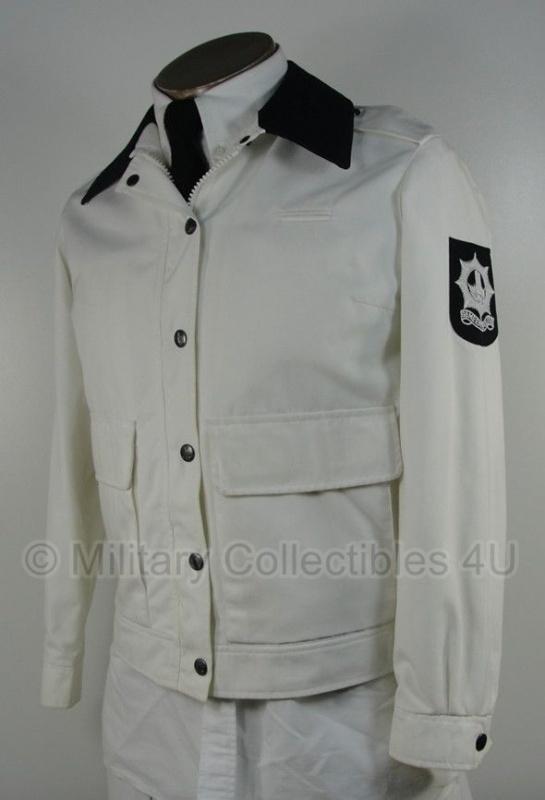 Gemeente politie jas zomer -  Dames - wit met donkere of witte kraag - maat 40 - origineel - (art.nr. 5)