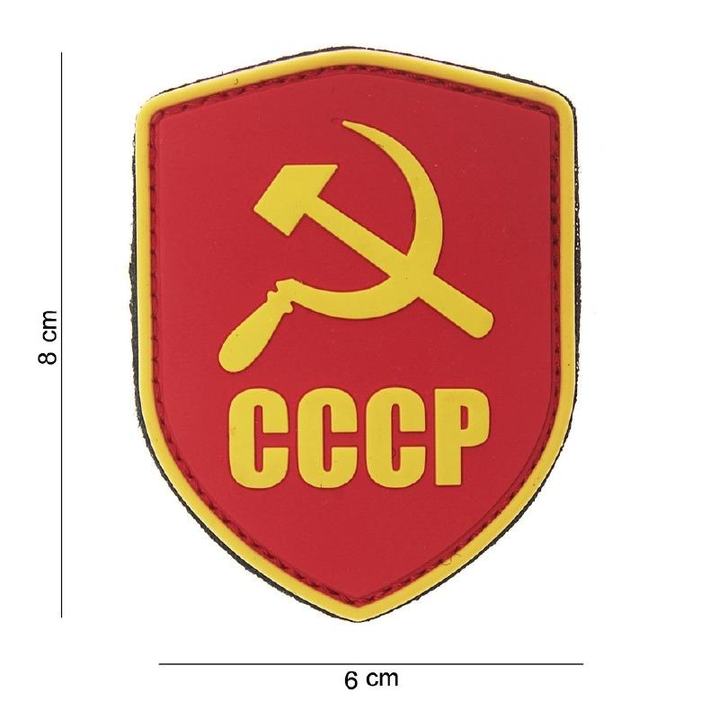 "Uniform landsvlag Rusland ""CCCP"" embleem 3D PVC PVC - met klittenband - Schild CCCP rood/geel - 8 x 6 cm"