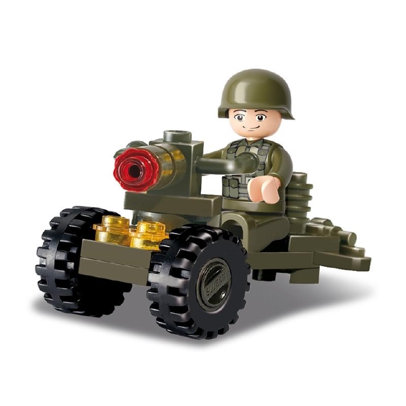 Sluban (geen lego) soldaat met kanon