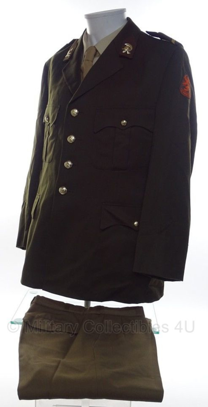 KL DT jas en broek set rang Sergeant Genie  - 1982 - maat 56K - origineel