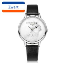 Horloge konijn zwart