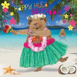 Cavia Kaart AlHoa! Happy Hula Birthday