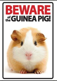 Beware of the Guinea Pig ! Metalen Waakbord 20 x 30 cm