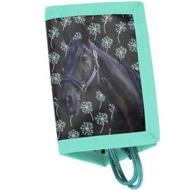 Animal Pictures portemonnee Zwart Paard