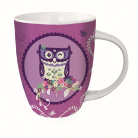 Hot Chocolat Mok Wise Old Owl met bijpassend lepetje