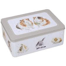 Koekjesblik met cavia's en konijnen Wrendale Designs