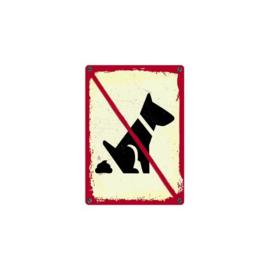 Bord Blik NO   hondenpoep