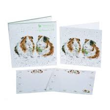 'Lettuce be Friends' Guinea Pig Notecard Pack - Kaarten Cavia Wrendale Designs